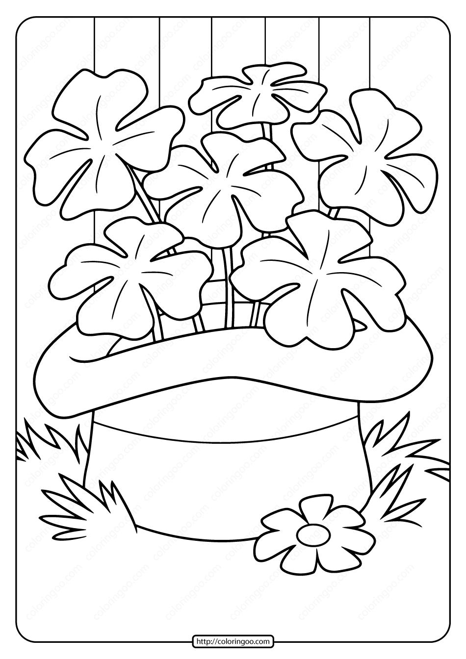 Free Printable Saint Patrick's Day Pdf Coloring Page