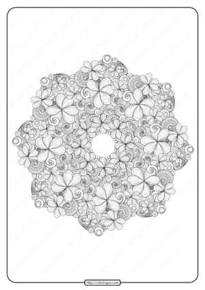 Free Printable Shamrock Wreath Pdf Coloring Page