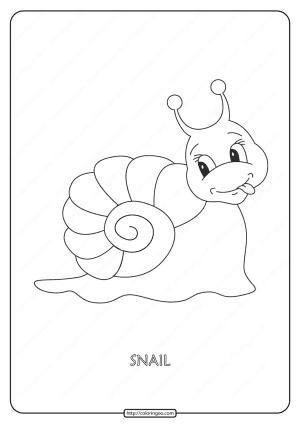 Free Printable Snail Pdf Coloring Page