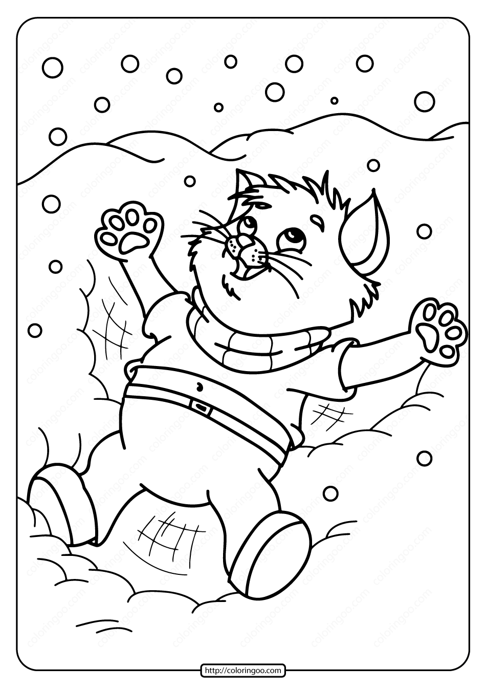 Free Printable Snow Angel Pdf Coloring Page