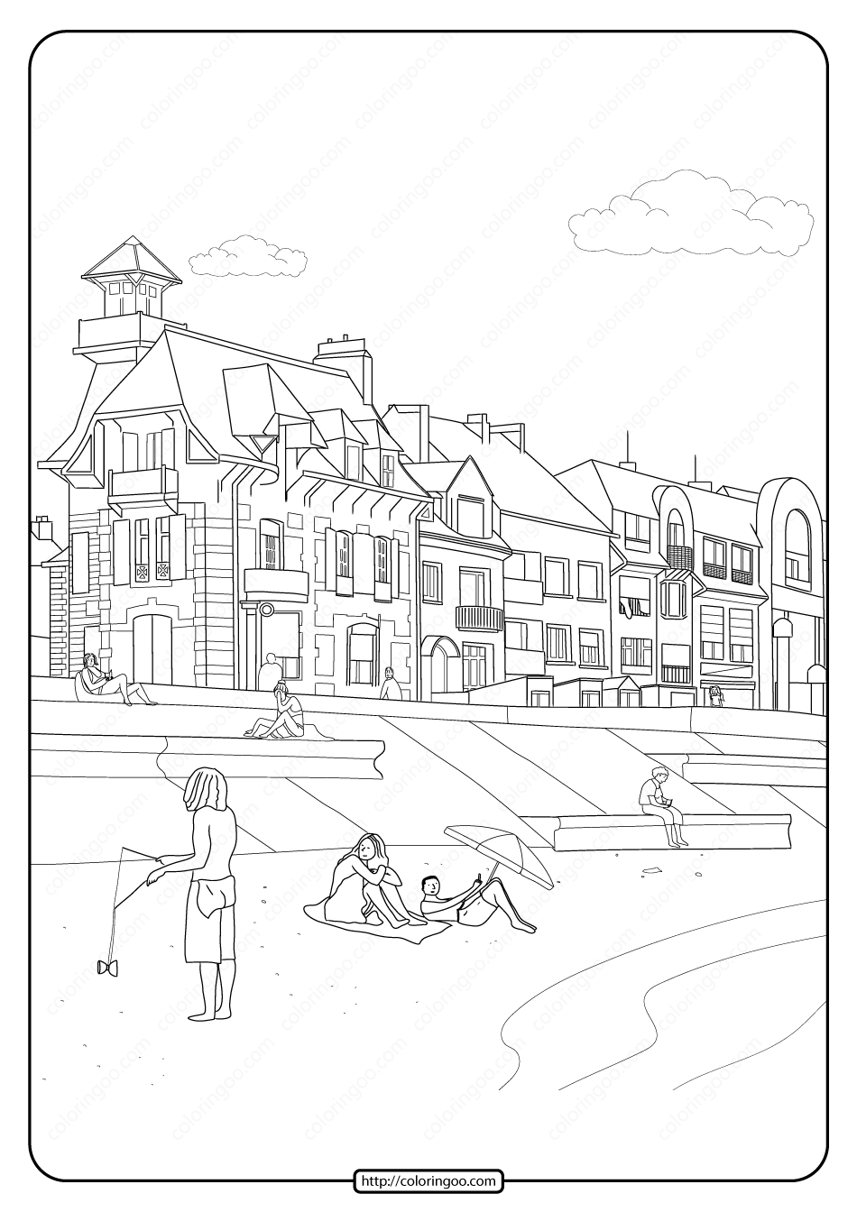 Free Printable Street View Pdf Coloring Page