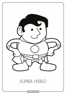 Free Printable Super Hero Pdf Coloring Page