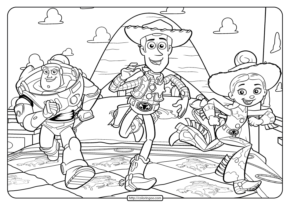 Free Printable Toy Story 3 Coloring Pages