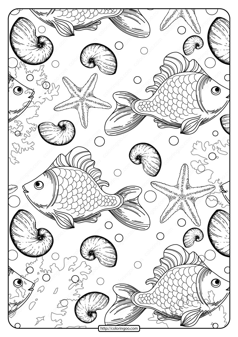 Free Printable Undersea Life Pdf Coloring Page