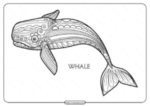 Free Printable Whale Mandala Coloring Page