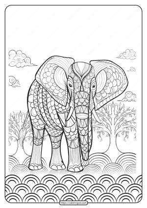 Free Printable Wwf Elephant Pdf Coloring Page