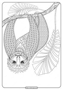 Free Printable Wwf Sloth Pdf Coloring Page
