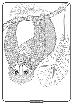 Free Printable Wwf Sloth Pdf Coloring Page