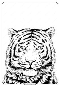 Free Printable Wwf Tiger Pdf Coloring Page