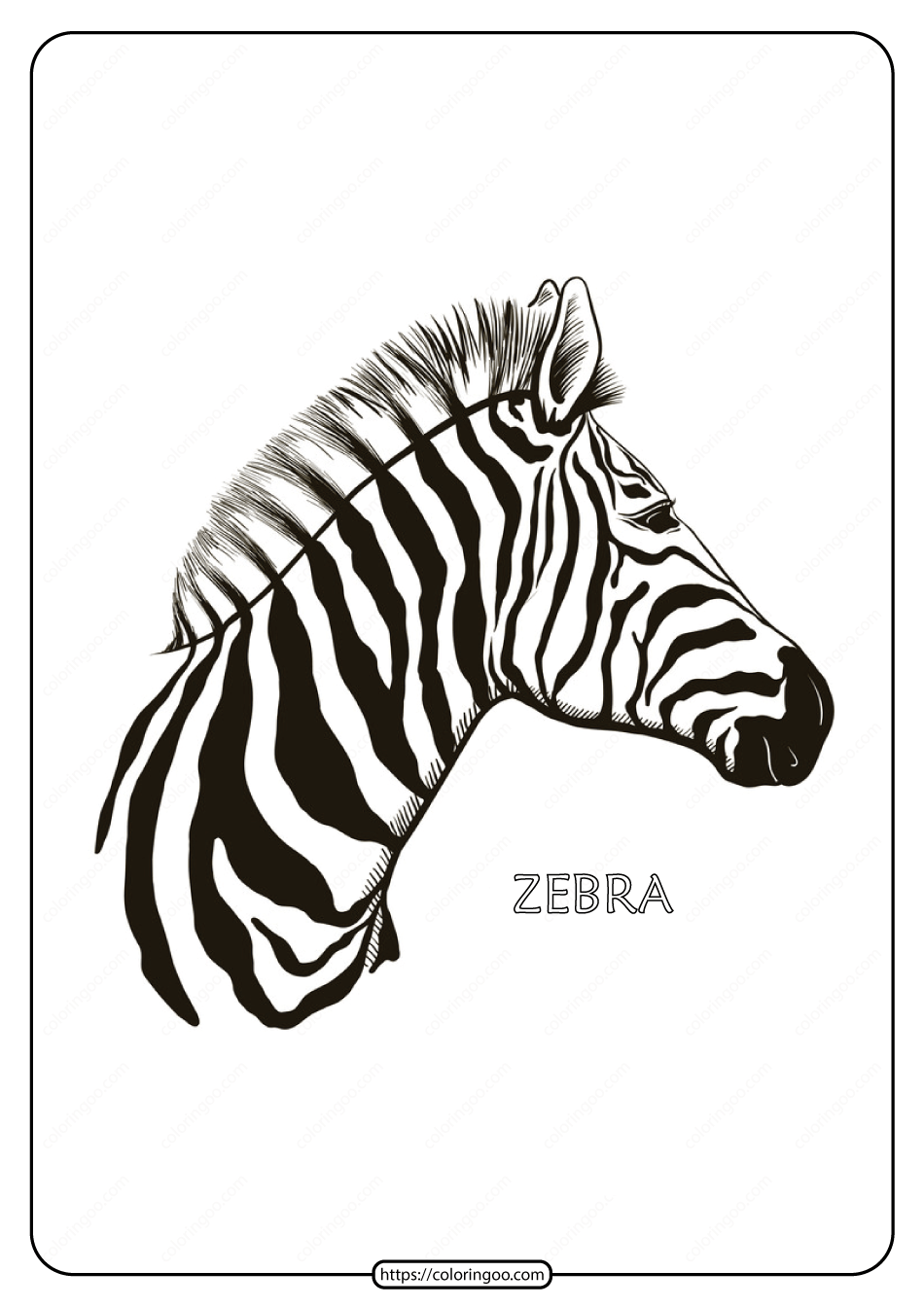 Free Printable Zebra Mandala Coloring Pages