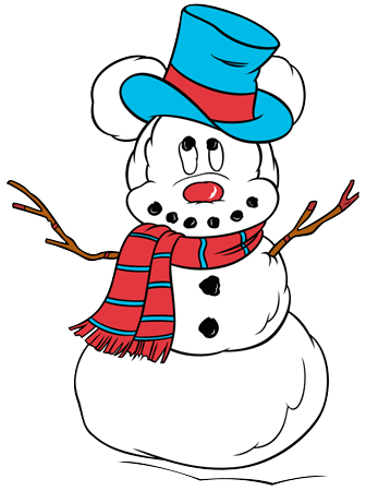 printable mickey mouse a snowman pdf coloring page