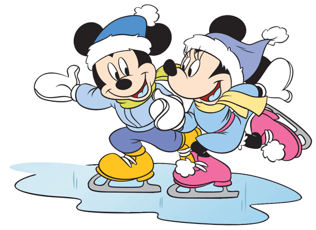 Minnie Mickey Mouse Ice Skating