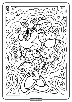 Printable Disney Minnie Mouse Pdf Coloring Page
