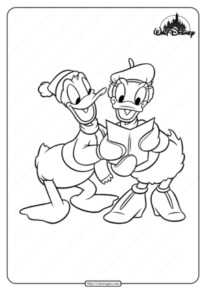 Printable Donald and Daisy Duck Coloring Pages
