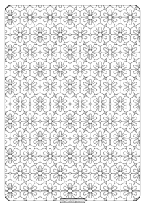 Printable Flower Geometric Pattern Coloring Page 02