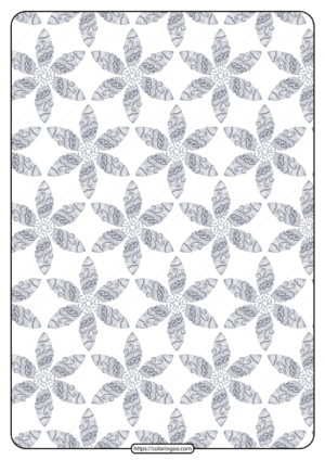 Printable Flower Geometric Pattern Coloring Page 04