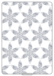 Printable Flower Geometric Pattern Coloring Page 05