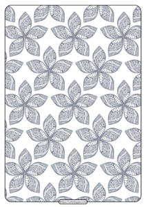 Printable Flower Geometric Pattern Coloring Page 06