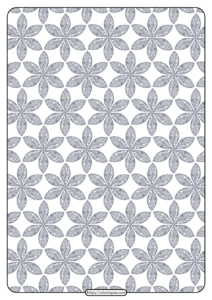 Printable Flower Geometric Pattern Coloring Page 07