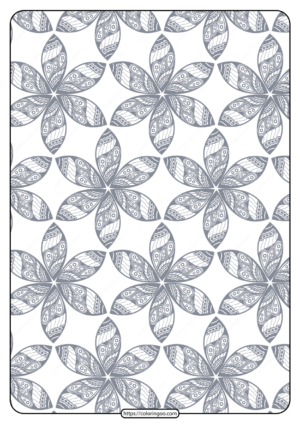 Printable Flower Geometric Pattern Coloring Page 08