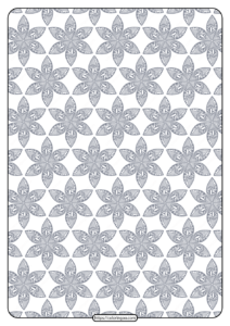 Printable Flower Geometric Pattern Coloring Page 10