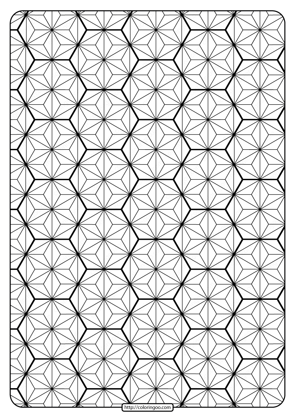 Printable Geometric Pattern Pdf Coloring Page 023
