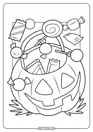 Printable Halloween Candy Pdf Coloring Page