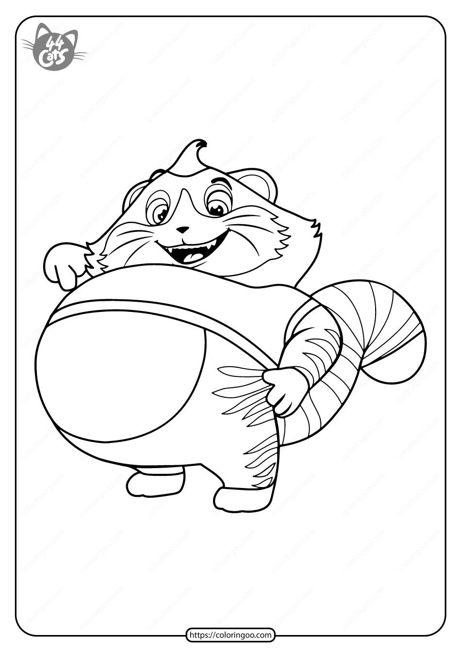 Free Printable 44 Cats Meatball Pdf Coloring Pages