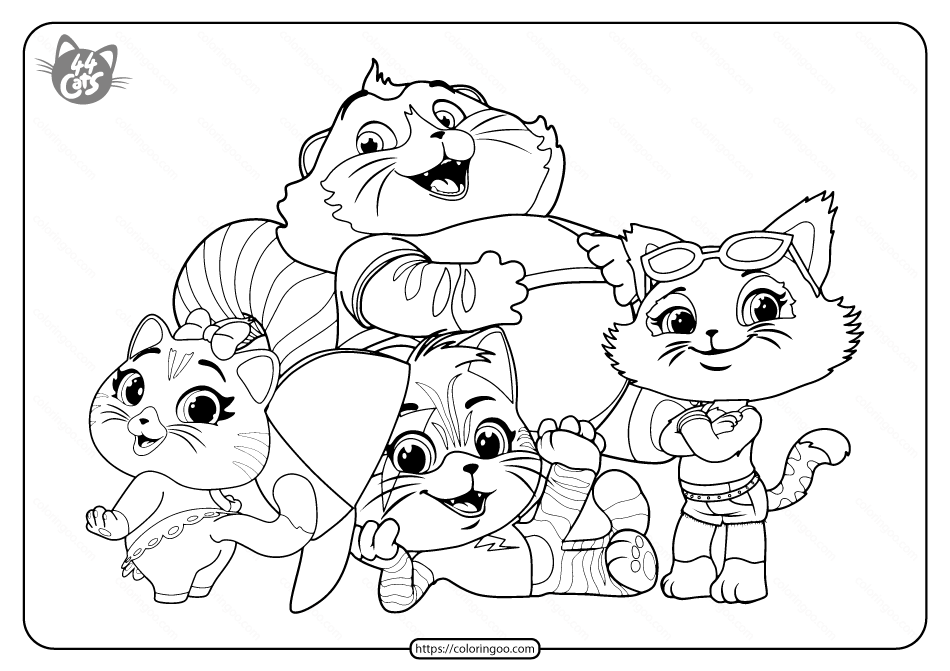 Free Printable 44 Cats Pdf Coloring Pages