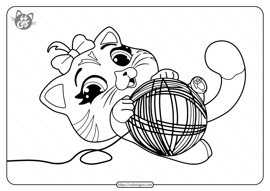 Free Printable 44 Cats Pilou Pdf Coloring Pages