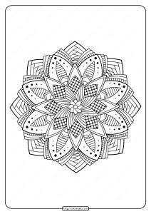 Free Printable Adult Floral Mandala Coloring Page 54