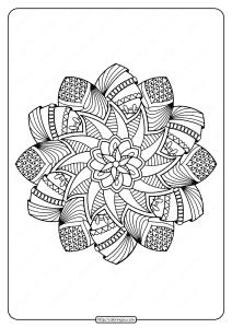 Free Printable Adult Floral Mandala Coloring Page 55
