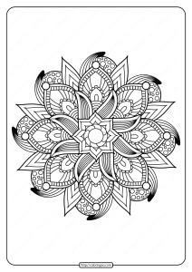 Free Printable Adult Floral Mandala Coloring Page 59