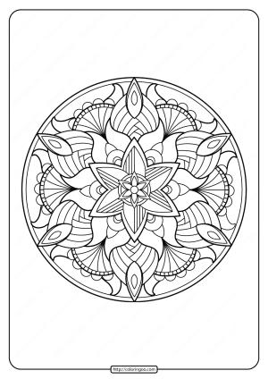 Free Printable Adult Floral Mandala Coloring Page 63
