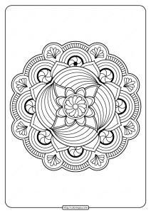 Free Printable Adult Floral Mandala Coloring Page 67