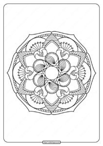 Free Printable Adult Floral Mandala Coloring Page 68