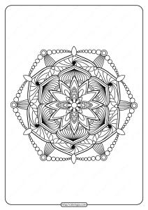 Free Printable Adult Floral Mandala Coloring Page 69