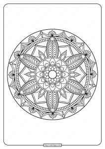 Free Printable Adult Floral Mandala Coloring Page 71