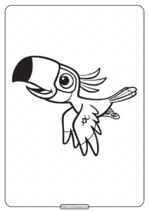 Free Printable Animals Bird Pdf Coloring Pages 01