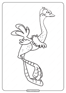 Free Printable Animals Bird Pdf Coloring Pages 02