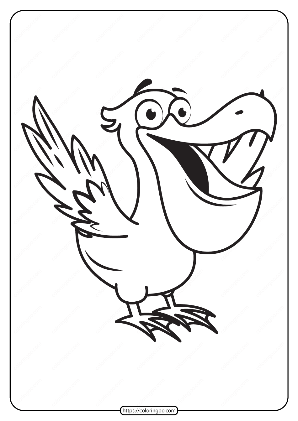 Free Printable Animals Bird Pdf Coloring Pages 03