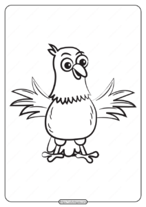Free Printable Animals Bird Pdf Coloring Pages 04