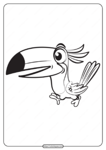 Free Printable Animals Bird Pdf Coloring Pages 05
