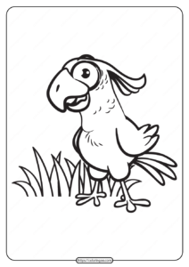 Free Printable Animals Bird Pdf Coloring Pages 07