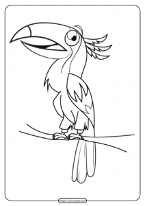 Free Printable Animals Bird Pdf Coloring Pages 09