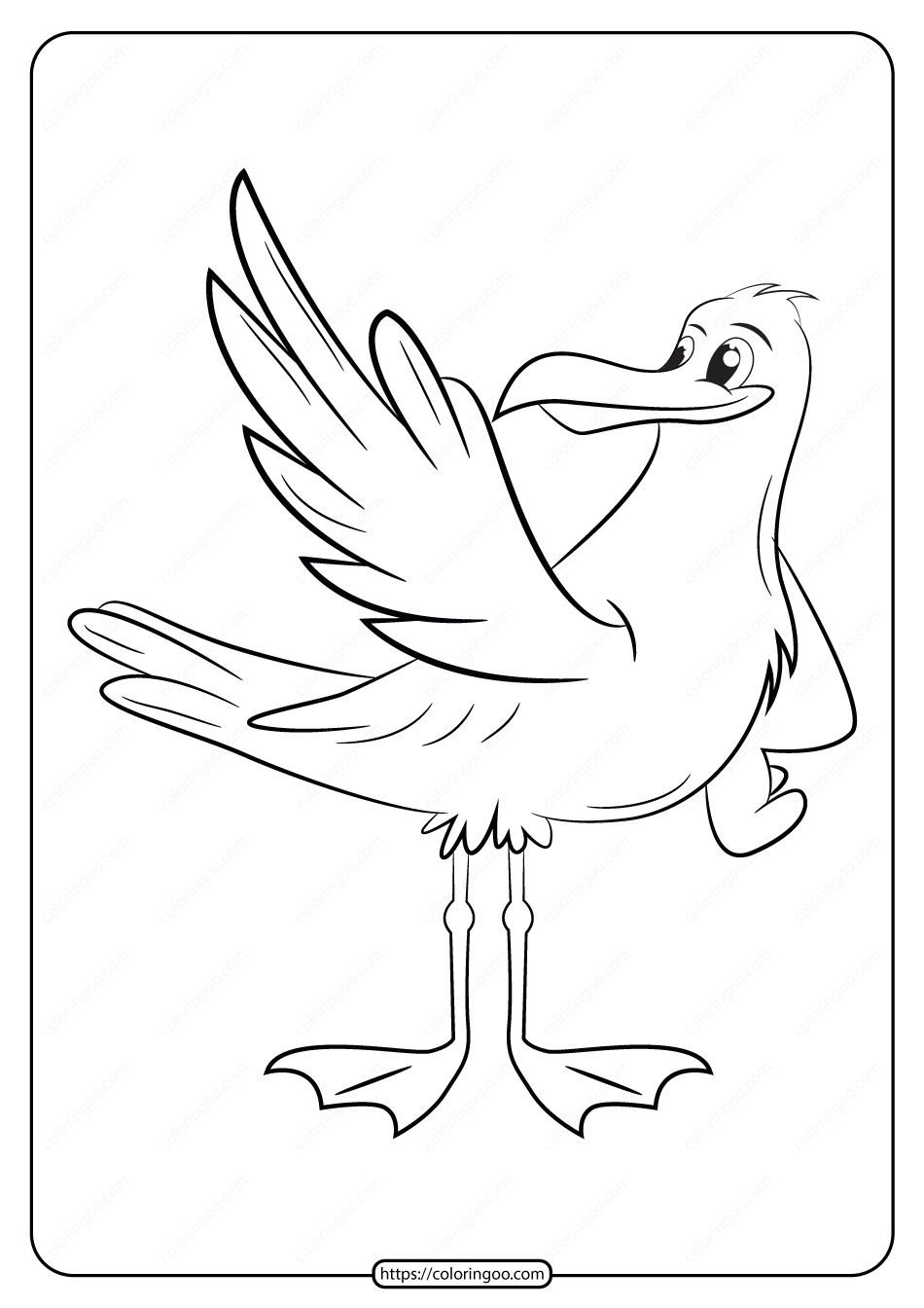 Free Printable Animals Bird Pdf Coloring Pages 10