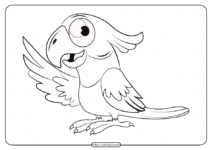 Free Printable Animals Bird Pdf Coloring Pages 11
