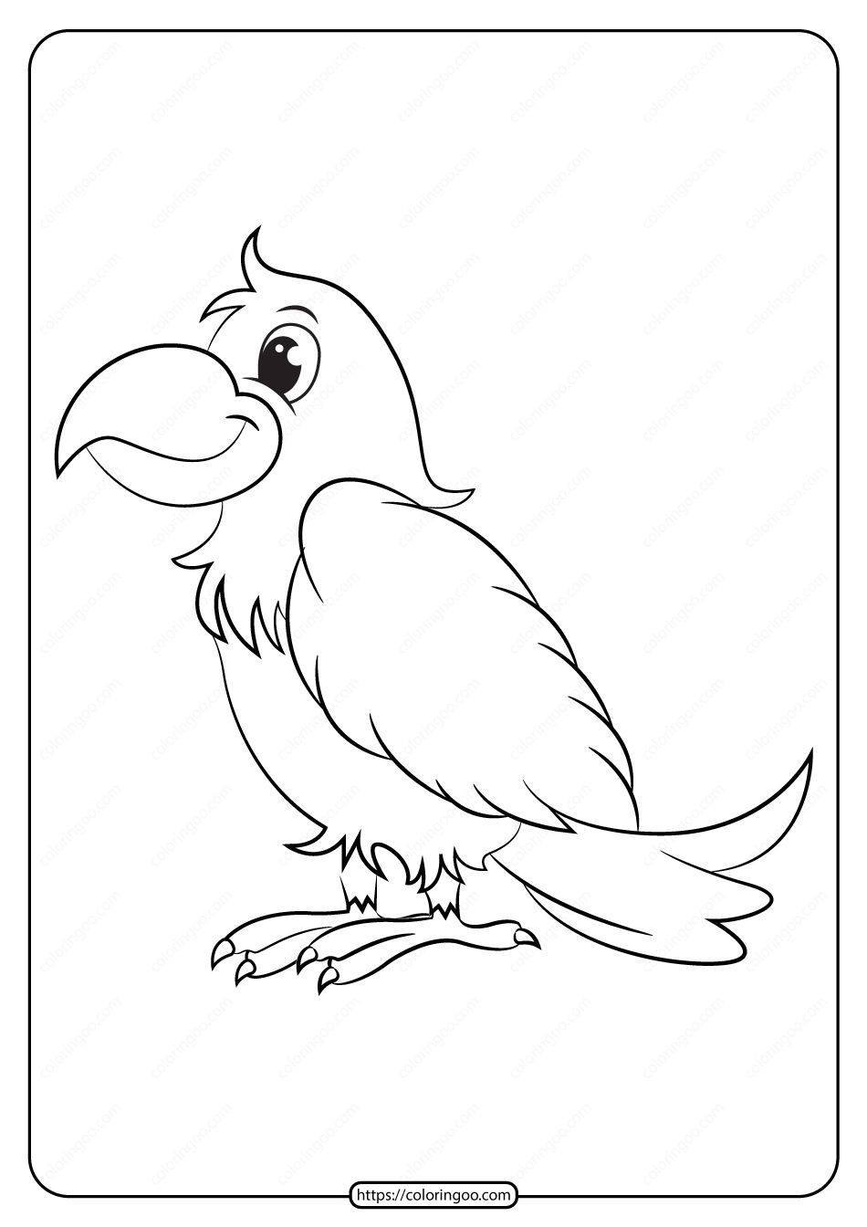 Free Printable Animals Bird Pdf Coloring Pages 12