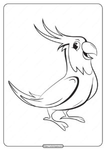 Free Printable Animals Bird Pdf Coloring Pages 13