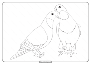 Free Printable Animals Bird Pdf Coloring Pages 21